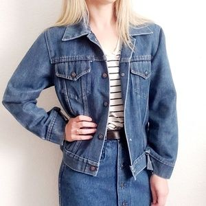 80-90s Vintage Denim Jean Distressed Grunge Jacket